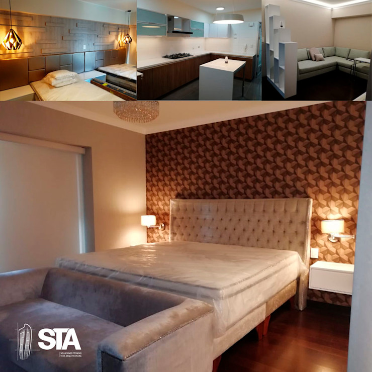 Soluciones Técnicas y de Arquitectura Small bedroom Wood Beige