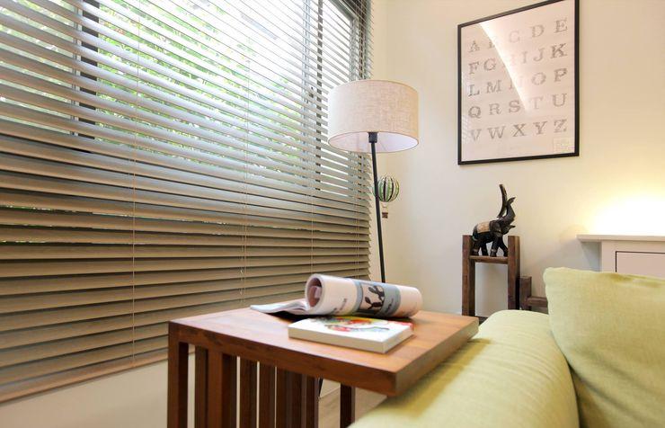 幸福感激升!使用木質系窗簾創造北歐風客廳-實木百葉簾 MSBT 幔室布緹 Windows & doors Curtains & drapes Solid Wood Green
