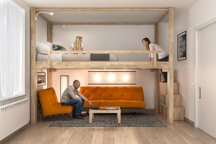 cinius s.r.l. Minimalistische Wohnzimmer