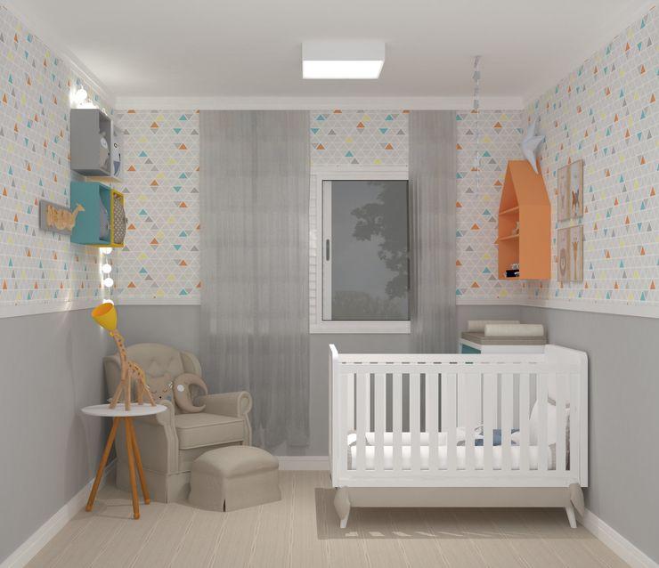 homify Baby room Engineered Wood Yellow