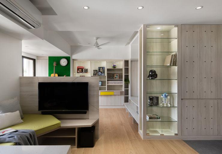 開放式空間 邑田空間設計 Eclectic style living room