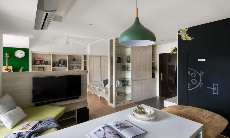 客廳 邑田空間設計 Eclectic style living room