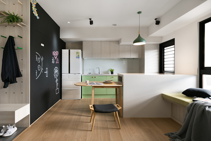 餐廳 邑田空間設計 Eclectic style dining room