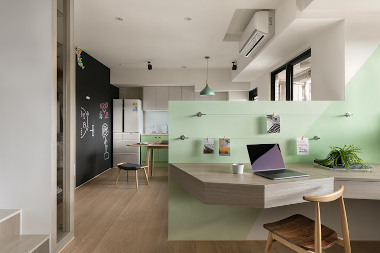 書房 邑田空間設計 Eclectic style study/office