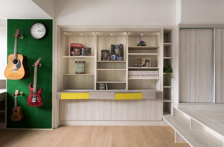 展示櫃、書櫃 邑田空間設計 Eclectic style study/office