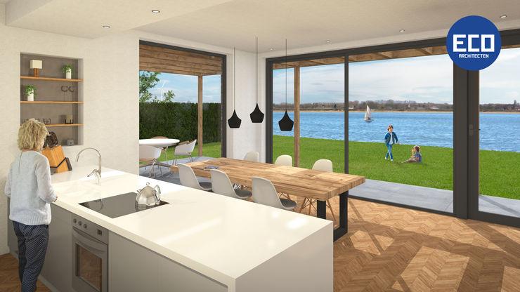 ECO architecten 現代廚房設計點子、靈感&圖片