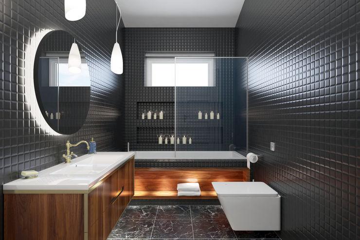 VILLA KEMALPAŞA PRODİJİ DİZAYN Rustik Banyo