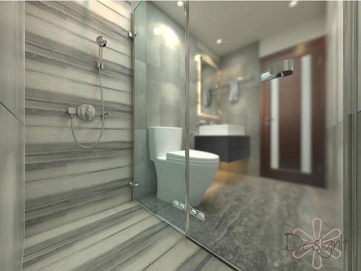 Shower Area DESIGNIT Modern Bathroom Tiles White