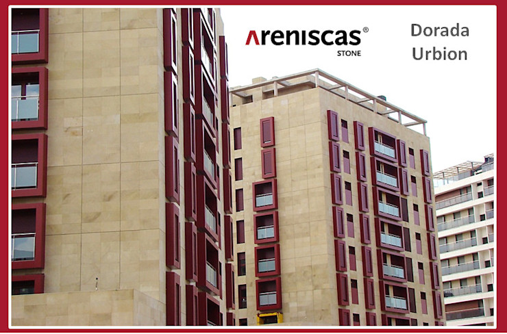 ARENISCAS STONE Classic office buildings Stone Amber/Gold