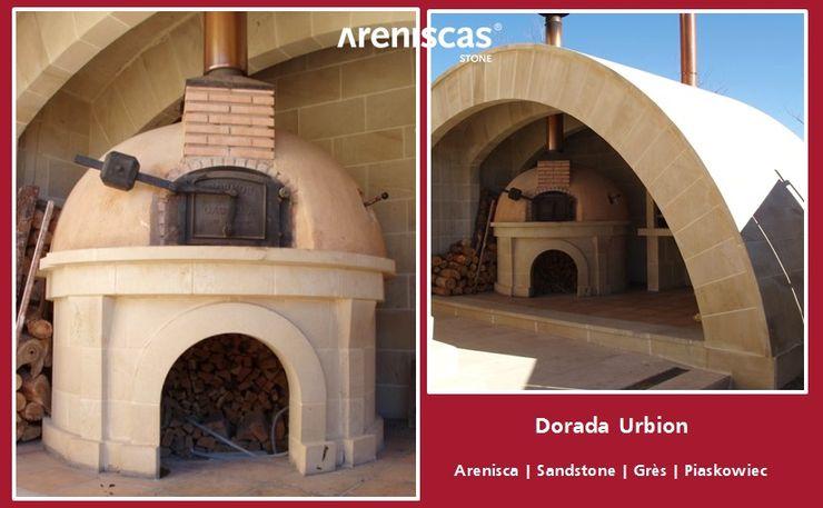 ARENISCAS STONE Garden Furniture Stone Amber/Gold
