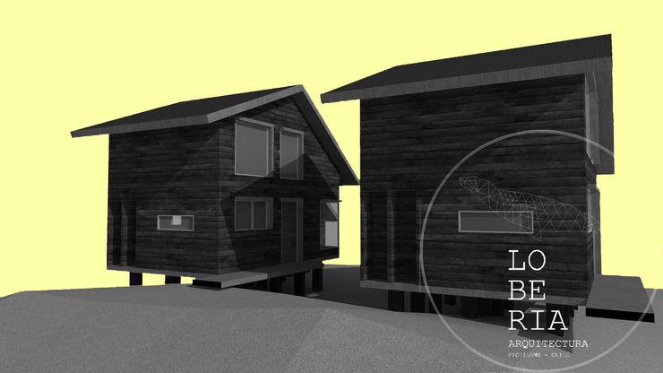Diseño Cabañas Cerro por Lobería Arquitectura Loberia Arquitectura Casas unifamiliares