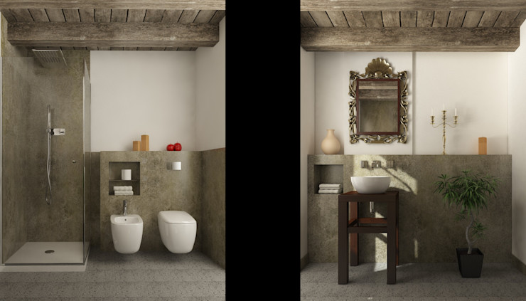 Ing. Massimiliano Lusetti Country style bathroom