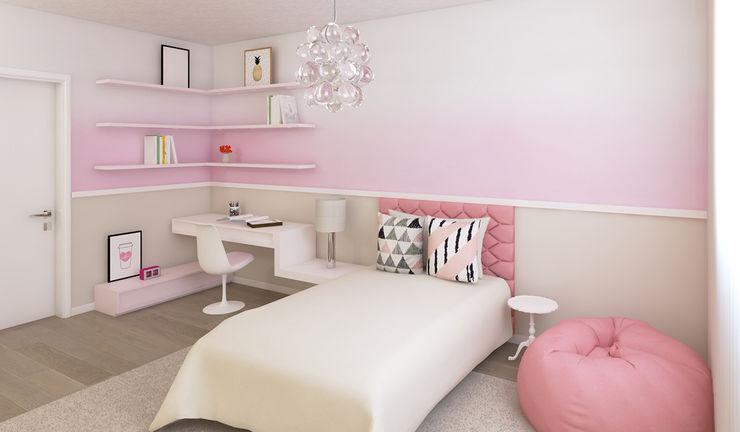 Projeto 3D - Moradia Luanda Ana Andrade - Design de Interiores Quartos de criança modernos
