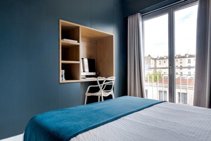 Anne Lapointe Chila Cuartos de estilo moderno Madera Azul