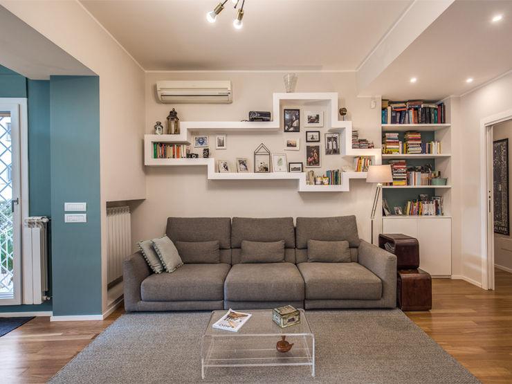 MOB ARCHITECTS Moderne Wohnzimmer