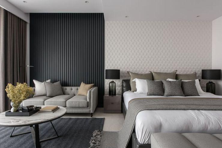 帶有現代感的寬敞臥室 湘頡設計 Small bedroom Grey