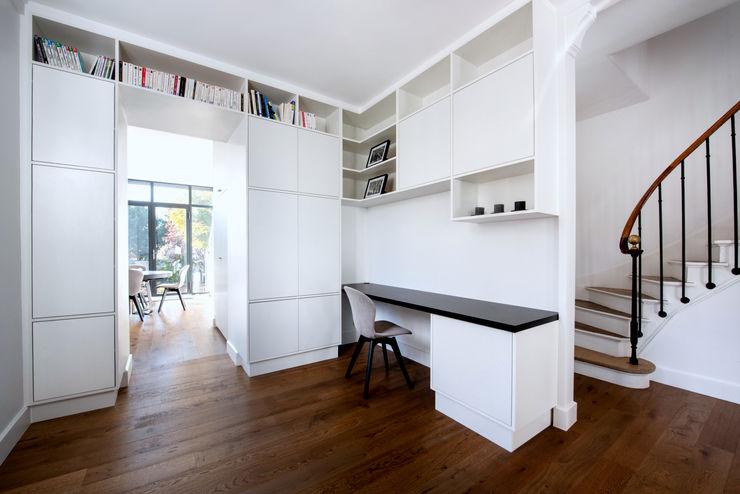 Anne Lapointe Chila Moderne Arbeitszimmer Weiß