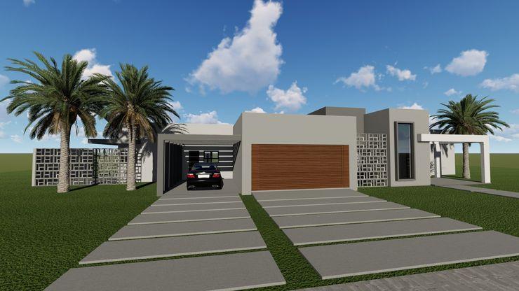Cláudia Legonde Single family home Concrete Beige