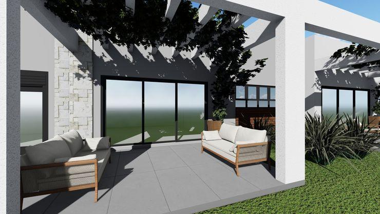 Cláudia Legonde Front yard Concrete Grey