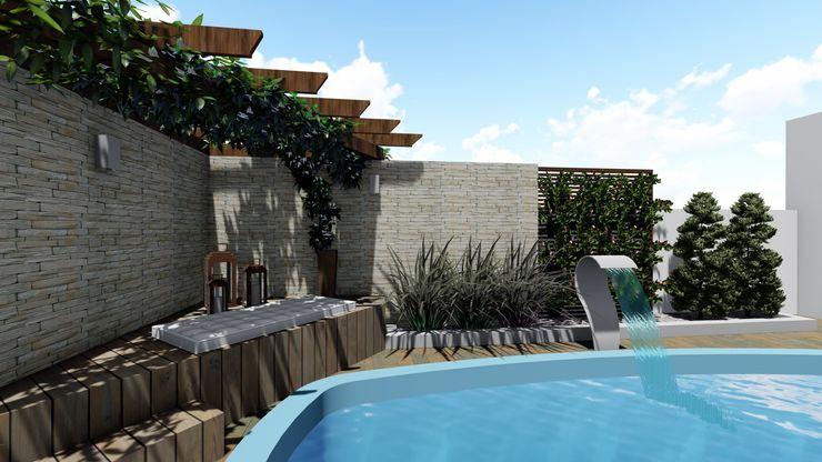 Cláudia Legonde Garden Pool Wood Wood effect