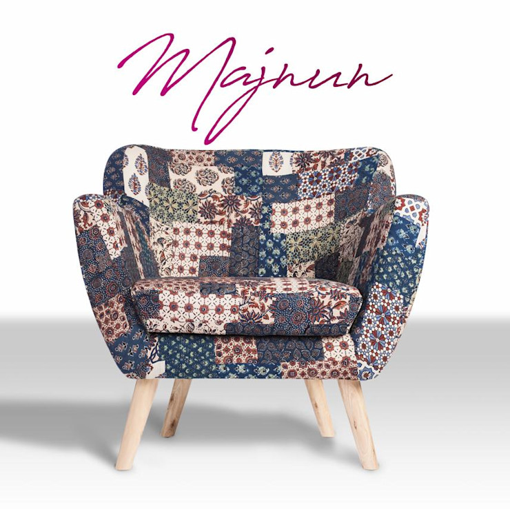 Red-Blue-Green Banni Patchwork Armchair Sihasn Living roomSofas & armchairs Cotton Multicolored