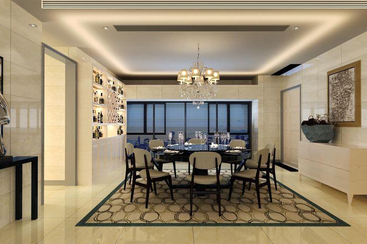 Yuvarlak Yemek Masası Dekorasyonu Macitler Mobilya Modern Yemek Odası