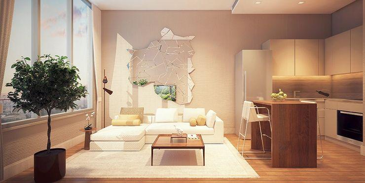 İnistanbul Ezgi Yüce Mimarlık AŞ. Modern Yatak Odası