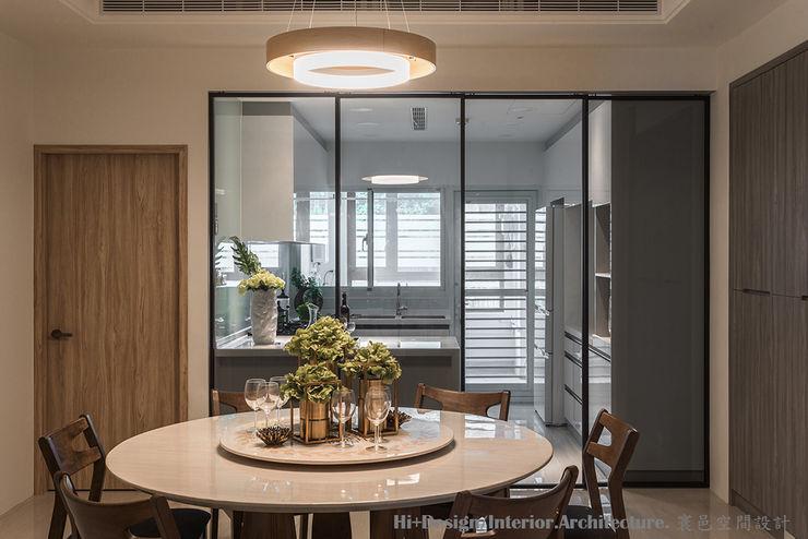 新北市五股區九揚萊茵堡電梯住宅 Hi+Design/Interior.Architecture. 寰邑空間設計 餐廳