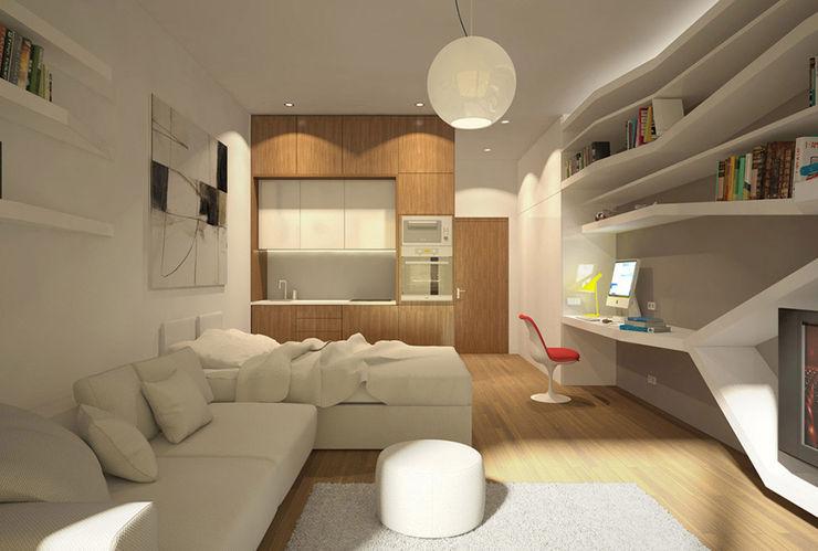 Nef 03 Ezgi Yüce Mimarlık AŞ. Modern Oturma Odası