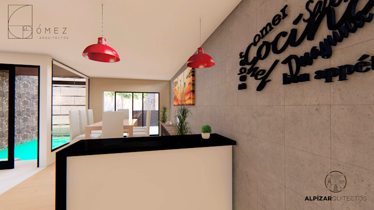 GóMEZ arquitectos Rustic style kitchen