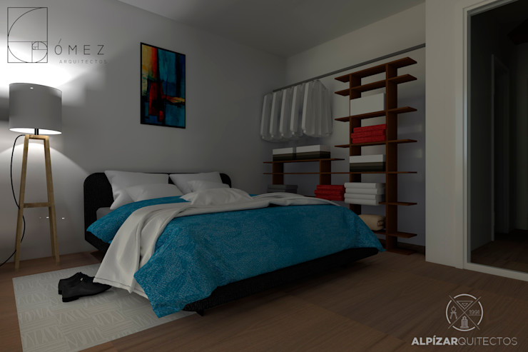 GóMEZ arquitectos Rustic style bedroom