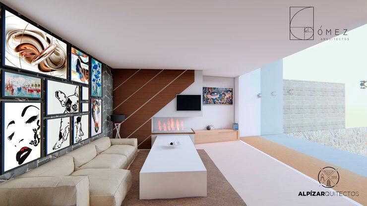 GóMEZ arquitectos Rustic style living room