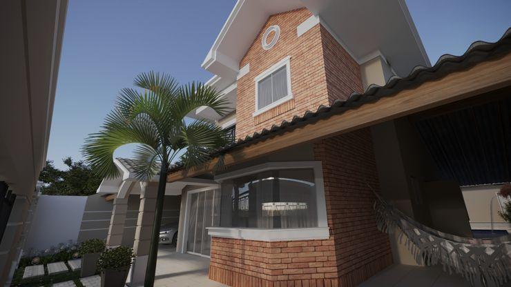 Janela bay windons, com revestimento tijolinho | RJ Gelker Ribeiro Arquitetura | Arquiteto Rio de Janeiro Casas coloniais