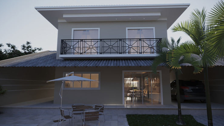 Fachada interna | RJ Gelker Ribeiro Arquitetura | Arquiteto Rio de Janeiro Casas mediterrâneas