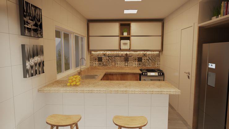 Projeto Casa LE | (Casa de praia Cabo-Frio - RJ Gelker Ribeiro Arquitetura | Arquiteto Rio de Janeiro Cozinhas pequenas