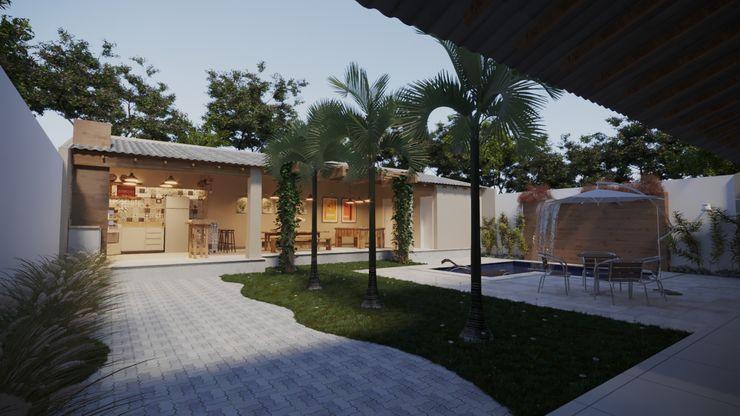 área de lazer interna | RJ Gelker Ribeiro Arquitetura | Arquiteto Rio de Janeiro Jardins de fachadas de casas