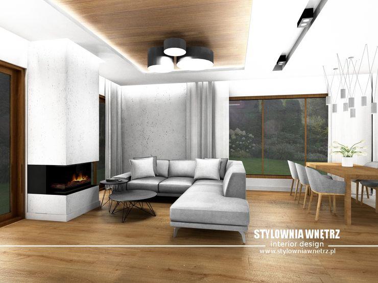 Stylownia Wnętrz Modern living room Grey