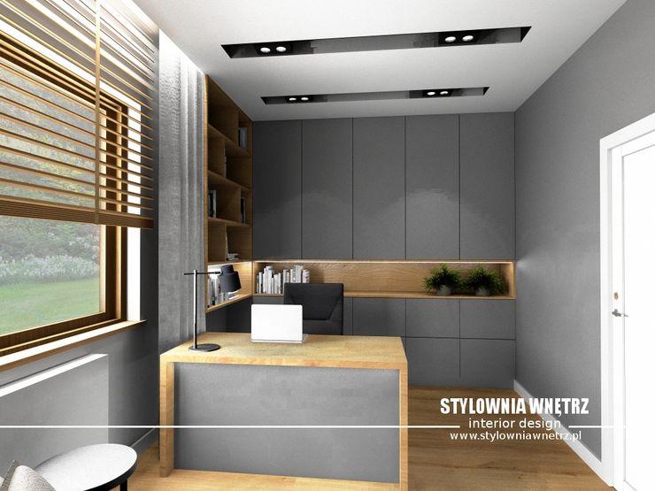 Stylownia Wnętrz Modern study/office Grey
