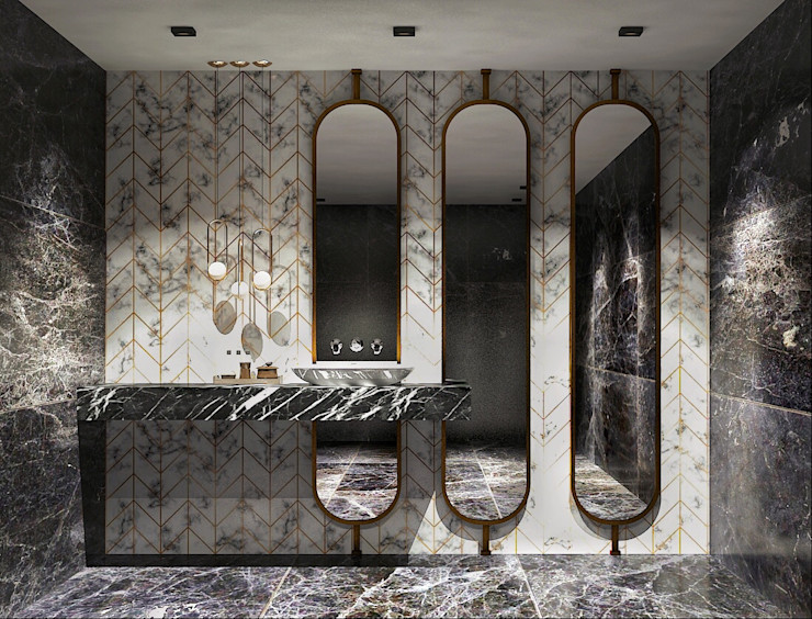 Banyo - Türk Hamamı FA - Fehmi Akpınar İç Mimarlık Modern Banyo