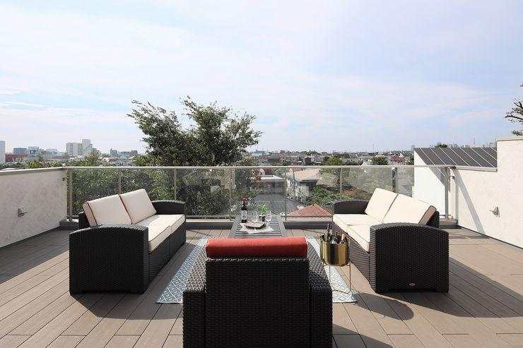 PROSPERDESIGN ARCHITECT /プロスパーデザイン Modern balcony, veranda & terrace