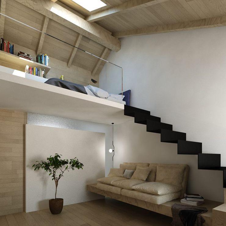 il soggiorno della suite Ing. Massimiliano Lusetti Soggiorno in stile mediterraneo Legno Bianco