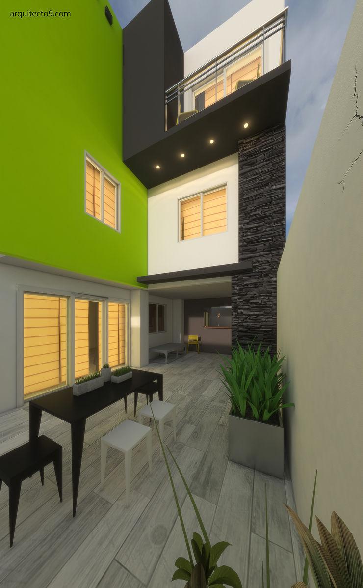 arquitecto9.com Modern balcony, veranda & terrace