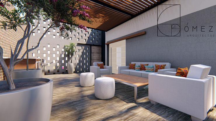 GóMEZ arquitectos Modern balcony, veranda & terrace