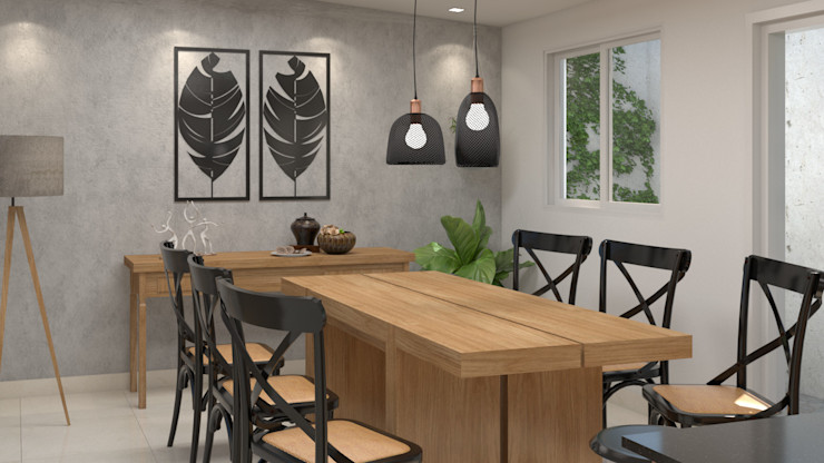 Studio MP Interiores Small kitchens Дерево Дерев'яні