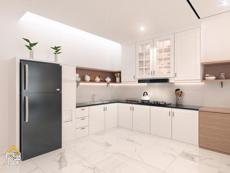 JRY Atelier Cocinas equipadas Contrachapado Blanco