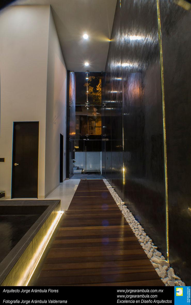 Casa N1 Excelencia en Diseño Pasillos, vestíbulos y escaleras minimalistas Negro