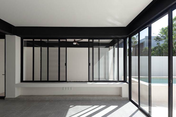 Daniel Cota Arquitectura | Despacho de arquitectos | Cancún Modern Living Room Iron/Steel White