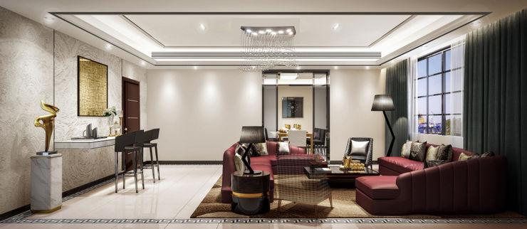 Luxury Solutions Ruang Media Modern Beige