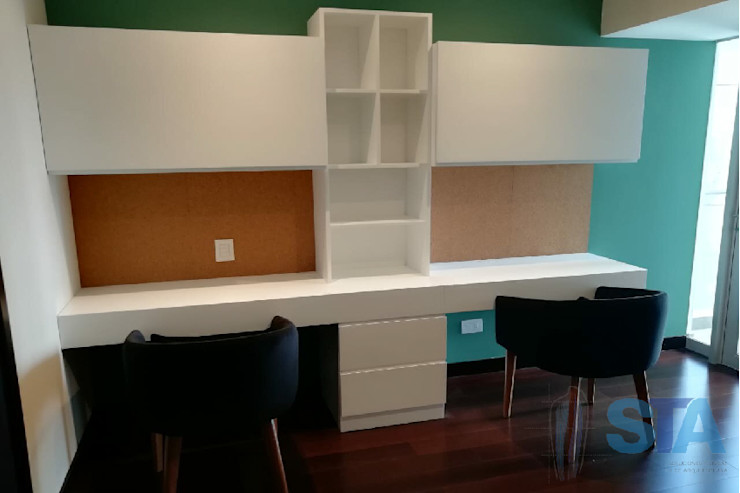 Soluciones Técnicas y de Arquitectura Modern study/office Chipboard White