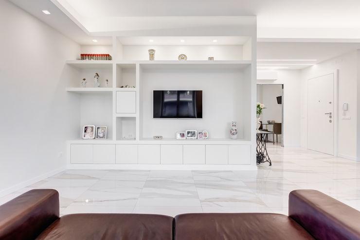 EF_Archidesign Living roomTV stands & cabinets White